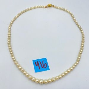 Vintage Glass Pearl Necklace - Amazing